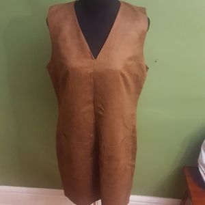 Faux suede tunic